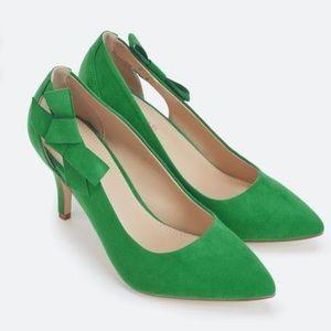 JustFab Green Carletta Heel